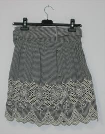 Kookaï zwart/witte rok-S