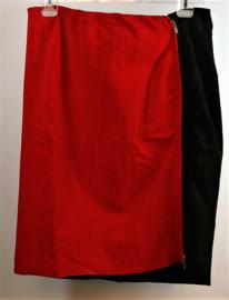 Julien le Roy rood/zwarte rok- XXL