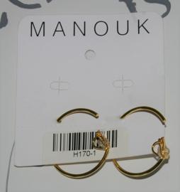 Manouk gouden creolen 4mm