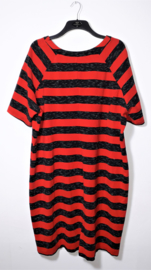 X-Two rood/zwarte jurk-54-56