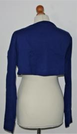 Cora Kemperman blauwe bolero-L