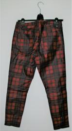 Zara zwart/rood geruite broek-44