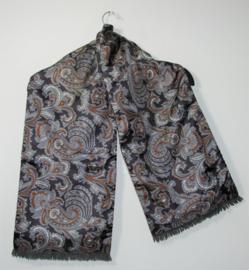Grijze sjaal dubbelzijdig