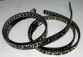 Zilveren studs riem