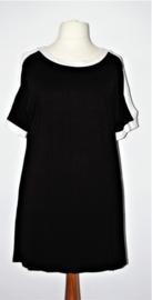 Zwart-wit long shirt- 44/46