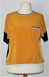 Zara geel/zwart shirt-L