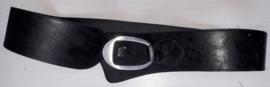 Zwarte brede riem-105 cm
