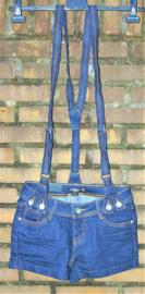 Miss OK jeansshorts met bretels- 36