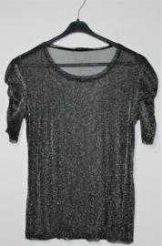 Zara Trafaluc zwart glitter shirt-L