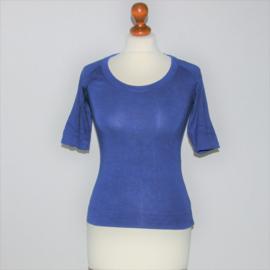 Cora Kemperman blauw shirt-S