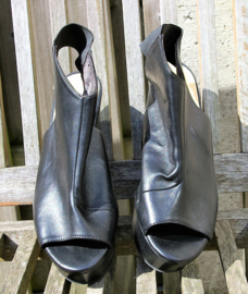 H&M zwarte open schoenen-38