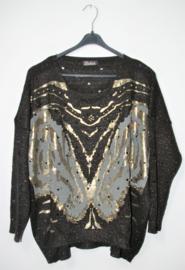 Fashion zwarte trui-M/L