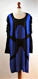 Twister blauw/zwarte jurk-3