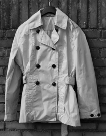 We grijze trenchcoat- XL