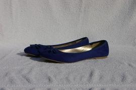 Pearlz blauwe ballerinas- 36