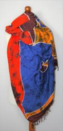 Grote kleurrijke sjaal/pareo