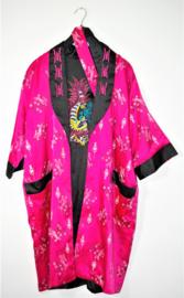 Zwart/roze kimono -XXL