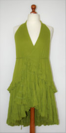 Cora Kemperman groene strokenjurk-XL