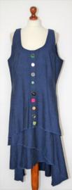 Heart blauwe jurk- XXXL