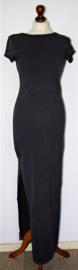 Grijze lange jurk-36