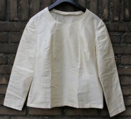 Creme zijden blouse 36