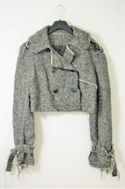 Cora Kemperman zwart/wit jasje-XL