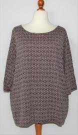 BB paars/zwart shirt-XXL