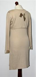 Beige jurk met bolero-36