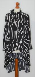 Iask fashion zwart/witte blouse-L