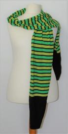 Hebbeding groen/zwarte sjaal
