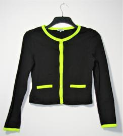 Liz Devy zwart/groen vest-S