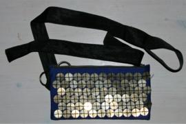 Cora Kemperman blauw heuptasje met muntjes