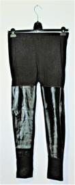 Divided zwarte legging met imitatieleer-42