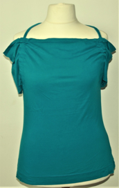 Cora Kemperman blauwe top-XL