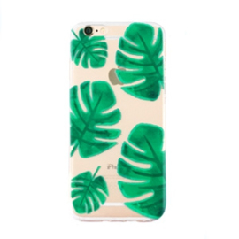 Softcase telefoonhoesje Iphone 6 Plus palm leaf print