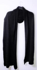 Zwarte sjaal/vest met capuchon