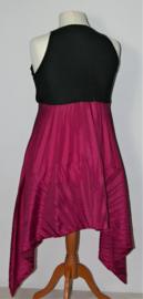 Cora Kemperman zwart/roze jurk-S