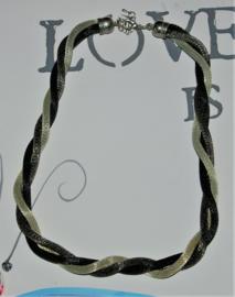 Grijs/zwarte gedraaide ketting