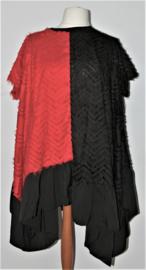 K.S7S rood/zwarte tuniek- XXXL
