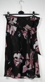 H&M zwart/paarse rok-36