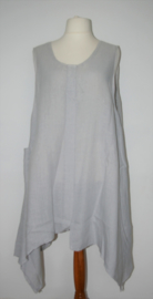 La-Bass grijze jurk-3