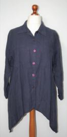 Angie Paris blauwe blouse-L