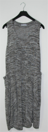 Magma grijs gemeleerde jurk- 48/50