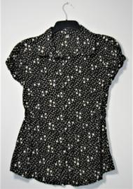 Zwart/witte sterren blouse-XL