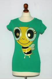 Fishbone groen bijenshirt-M