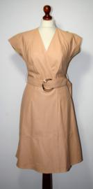 Elisabetta Franchi zalm leren jurk- 42