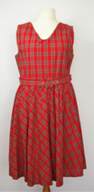 Dolly and Dotty rood geruite jurk-uk20/48