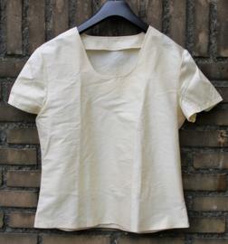 Creme zijden blouse-S