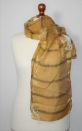 Bruine glanzende sjaal