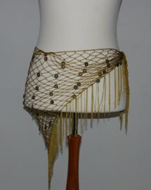 Muntjes okergele sjaal/ceintuur